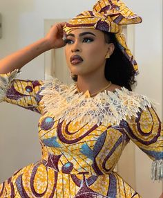 Latest African Fashion Dresses, African Dresses For Women, African Print Dresses, African Print Fashion, Africa Fashion, African Attire, Ankara Fashion, African Prints, Ankara Gown Styles