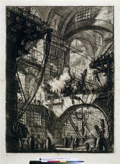 L'incendie Piranèse (dit), Piranesi Giovanni Battista (1720-1778)