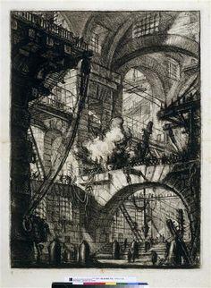 L'incendie Piranèse (dit), Piranesi Giovanni Battista (1720-1778)