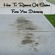 How to Remove Oil Stains from your Driveway-- so good to know!