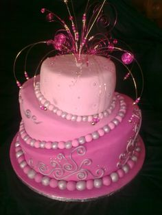 Cute Pink Cake #food #yummy #delicious