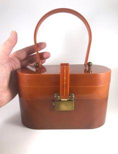 Vintage Purse Lucite Plastic Box Bag Two layer ASCOT Unique | Etsy Vintage Gifts, Unique Vintage, Types Of Purses, Box Bag, Vintage Purses, Ascot, Tortoise Shell, Birkin, Purses And Bags
