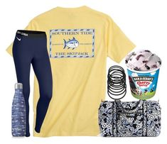 """Sleepovers"" by hey-its-eliza ❤ liked on Polyvore featuring Southern Tide, Vera Bradley, NIKE, S'well, Forever 21 and Garcia"