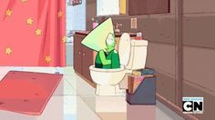 """When Peridot explored her escape options. 