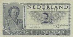 Briefje van 2 1/2 gulden; deze geldeenheid werd een rijksdaalder genoemd....