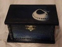 Nightmare Before Christmas Jack Skellington Trinket Box OOAK