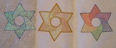 Machine Embroidery Design for a Star of David by StitchesbySue