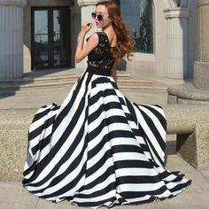 Sannysis Damen Sommer-Strand-Spitze-Chiffon- Kleid-lange Maxi Abend-Cocktailparty -Kleid: Amazon.de: Bekleidung