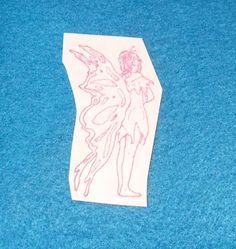 Fairy rubber stamp butterfly wings fantasy lady elf elven faire fairies faery