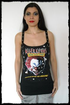 Killer Klowns From Outer Space Strap Top Tank shirt XL