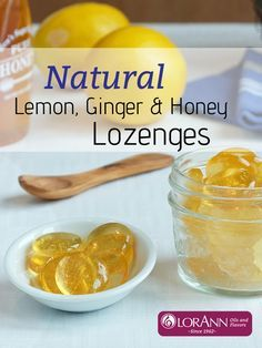 Recipe for Natural Lemon, Ginger & Honey Lozenges Cold Remedies, Herbal Remedies, Health Remedies, Natural Remedies, Natural Medicine, Herbal Medicine, Lemon Candy Recipe, Cough Drops Homemade, Ginger Essential Oil