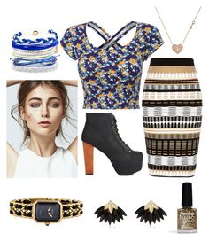 """""""à la mode"""" by ri-hab on Polyvore featuring mode, LE3NO, River Island, Jeffrey Campbell, Limedrop, Chanel, Domo Beads et Sydney Evan"""