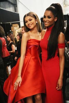 Zendaya with Ciara at the Go Red For Women Red Dress Collection at Mercedes Benz Fashion Week 2/12/15