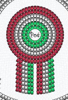 Kokárda rajz de Perlas de Poé