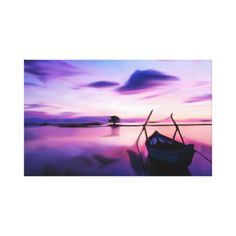 Wrapped Canvas Pretty Sunset Print 19.50x12 Inches  $109.90  by PaulasDesigns  - custom gift idea