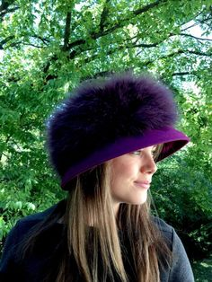 Unique Vintage MARZI Private Collection Neiman Marcus Purple Feathered Dress Hat #NeimanMarcus #ChurchDress