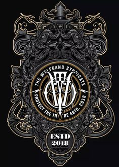 Wolf Gang Chapter 5 by the-sastra on Envato Elements Creative Typography Design, Graphic Design Art, Lettering Design, Graphic Design Inspiration, Creative Posters, Engraving Illustration, Sign Writing, Typographic Poster, Vintage Typography