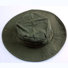Men s Olive Green Plain Ripstop Army Military Boonie Bush Jungle Sun Hat  Cap Sun Hats 200c9b7d53e9