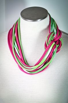 t-shirt scarf -- I like the extra loop around in this one