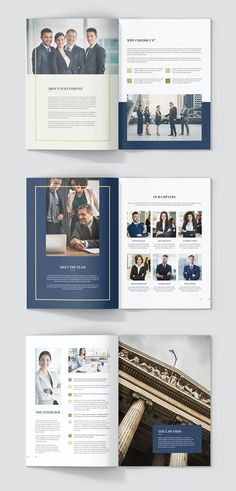Brochure Design Layouts, Template Brochure, Layout Design, Flyer Template, Design Design, Company Profile Design Templates, Booklet Design, Presentation Folder, Presentation Design