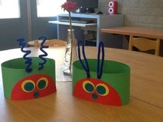 Headband craft idea for kids – Crafts and Worksheets for Preschool,Toddler and Kindergarten The Very Hungry Caterpillar Activities, Hungry Caterpillar Party, Eric Carle, Chenille Affamée, Book Crafts, Crafts For Kids, Summer Crafts, Headband Crafts, Hungry Caterpillar