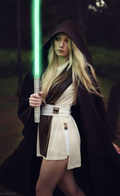Jedi Cosplay - EnAmy Cosplay - COSPLAY IS BAEEE! Tap the pin now to grab yourself some BAE Cosplay leggings and shirts! From super hero fitness leggings, super hero fitness shirts, and so much more that wil make you say YASSS! Jedi Cosplay, Cosplay Anime, Cosplay Girls, Superhero Cosplay, Star Wars Halloween Costumes, Diy Halloween Costumes For Women, Female Jedi Costume, Female Cosplay, Costume Ideas