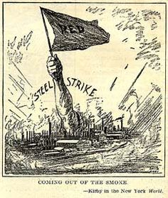 September 22, 1919 – The steel strike of 1919, led by the Amalgamated Association of Iron and Steel Workers, begins in Pennsylvania before spreading across the United States.