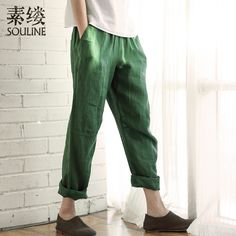 Souline New Brand 2015 Summer Women's Solid Loose Casual Vintage Fashion Harem Pants SL523187 Free Shipping