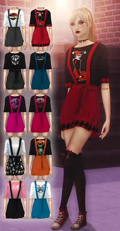 Female Suspender Short Mini Skirt The Sims 4 _ - Clove share Asia Mods Sims, Sims 4 Game Mods, Sims 4 Mods Clothes, Sims 4 Clothing, Sims 3, Sims Four, Packs The Sims 4, The Sims 4 Bebes, Mode Adidas