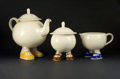 Lustre Pottery Vintage Carlton Ware Walking Ware 8 PCS Walking Ware England