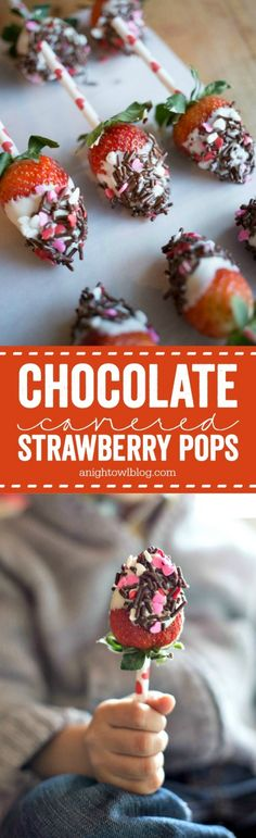 These Chocolate Covered Strawberry Pops are such a fun idea for Valentine's Day! Check out this post for the how-to!