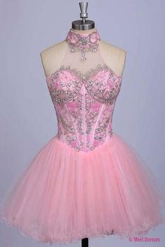 Blush Pink Homecoming Dress,Homecoming Dresses,Beading Homecoming Gowns,Short Prom Gown,Blush Pink Sweet 16 Dress,Homecoming Dress,Cocktail Dress,Evening Gowns PD20182995