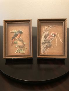 Vintage Carved Paper Bird Shadow Boxes Wall Art, Set of Two by BazemoreVault on Etsy