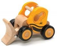 """Little Rigs Excavator by The Original Toy Company. $11.99. 5"""" x 3"""" x 3 1/2"""". Wooden Little Rig Excavator. Ages 18 mos+. Classic wooden vehicle offers hours of imaginative play with moving parts for even more interactive play. Encourages fine motor skills and eye-hand coordination. Solid hardwood construction with rolling wooden wheels. aAges 18 months + 5"""" x 3"""" x 3 1/2"""". Save 20%!"""