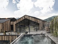 Voted the most beautiful spa hotel in europe, Naturhotel Forsthofgut Hotel Architecture, Contemporary Architecture, Alpine Hotel, House Seasons, Spa Hotel, Facade Design, Wooden House, Resort Spa, Hotels And Resorts