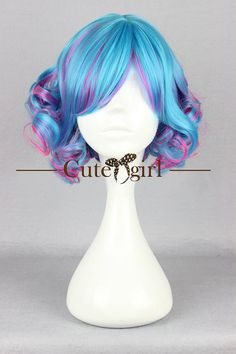 Item details: Color: Blue, purple, pink Style: Anime,lolita cosplay wig Fabric: Nylon Shipping: United States: 10-15 days Other