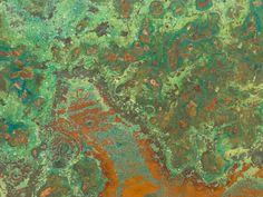 3x3-Inch Verde Patina Copper Sheet 24 gauge