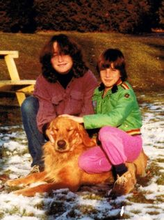 30 years ago: Me 14 yrs hold + my little Sisters, With Kid, we Still Cry when we talk about this wonderful family dog.