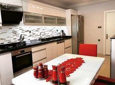 Ankastre, Kırmızı, Mutfak, Mutfak masası