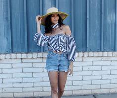 Striped Off Shoulder Summer Top