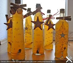 Apple - cinnamon - liqueur, a nice recipe with a picture from the liqueur category. - Apple – cinnamon – liqueur, a nice recipe with a picture from the liqueur category. Winter Drinks, Winter Food, Diy Presents, Schnapps, Cinnamon Apples, Food Gifts, Cocktail Drinks, Homemade Gifts, Christmas Time