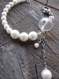 Pearl Bracelet.  Getting Married? Looking for a fun, unique, pearl bracelet?  Check out my Etsy shop for more pictures and more color options for you and your lucky bridesmaids!  www.gennextjewelry.etsy.com or pin for when you're ready to set the date!  $23