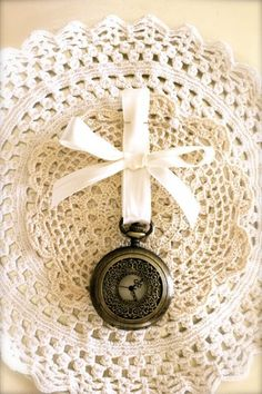 Pocket watch Boutonnieres for the guys...