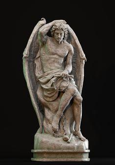 modeling inspired by the work of Guillaume Geefs portraying the Lucifer. Also wanna thanks Giovani Kososki for the feedbacks! Rennaissance Art, Statue Tattoo, Tattoo Art, Ancient Greek Sculpture, Angel Drawing, Satanic Art, Art Sculpture, Demon Art, Plastic Art