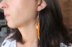 Excited to share the latest addition to my #etsy shop: Women Earrings, Goose Feather Style Chic https://etsy.me/2K9zoex #jewelry #earrings #women #featherearrings #blueearrings #orangeearrings #greenearrings #dangle #dropearrings