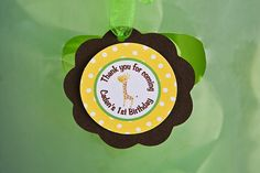 Jungle Favor Tags Birthday Party