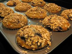Just Messin' Around: Blueberry Banana Oatmeal Muffins