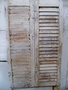 Vintage farmhouse wooden distressed shutter shabby chic  home decor Anita Spero
