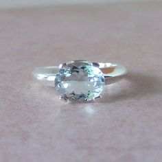 2ct Genuine Aquamarine Sterling Silver by cavaliercreations, $120.00