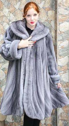 ba813a5c4 Plus Size Sapphire Mink Stroller Chinchilla Coat, Mink Fur, Mink Coats,  Women's Coats. MARC KAUFMAN FURS